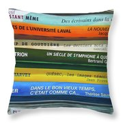 Livres ... Throw Pillow