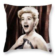 Liz Fraser, Vintage British Actress Throw Pillow