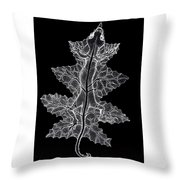 Lizard And Leaf Throw Pillow