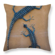 Lizard Art Throw Pillow