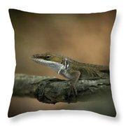 Lizard Deception Wildlife Art Throw Pillow