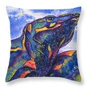 Lizard In The Desert 2 Throw Pillow