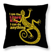 Lizard King Throw Pillow
