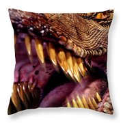 Lizard King Throw Pillow by Kelley King