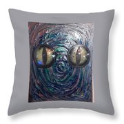 Lizard Man Throw Pillow