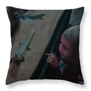 Lizards At The Zoo Throw Pillow