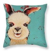 Llama Sid Throw Pillow