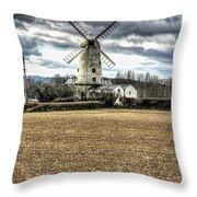 Llancayo Mill Usk 2 Throw Pillow