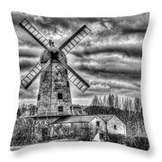 Llancayo Mill Usk 3 Mono Throw Pillow