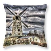 Llancayo Mill Usk 3 Throw Pillow
