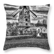 Llancayo Mill Usk 4 Mono Throw Pillow