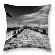 Llandudno Pier  Throw Pillow