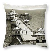 Llandudno Pier North Wales Uk Throw Pillow