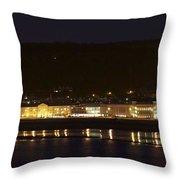 Llandudno Promenade At Night. Throw Pillow