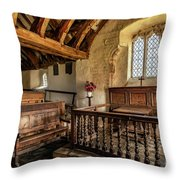 Llangelynnin Church Throw Pillow