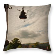 Llangollen Station Throw Pillow