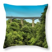 Llangollen Viaduct Throw Pillow