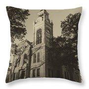 Llano County Courthouse - Vintage Throw Pillow