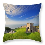 Llansteffan Castle 2 Throw Pillow