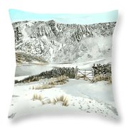 Llyn Cwm Silyn Throw Pillow