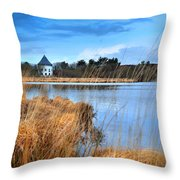 Llyn Llech Owain Country Park 1 Throw Pillow