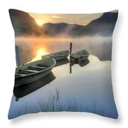 Llyn Nantlle Uchaf Throw Pillow