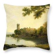 Llyn Peris And Dolbadarn Castle, North Wales Throw Pillow