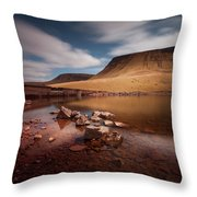 Llyn Y Fan Fach Black Mountain Throw Pillow