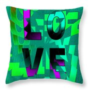 Lo Ve Throw Pillow