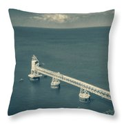 Loading Dock / Pier In Aguadilla Throw Pillow