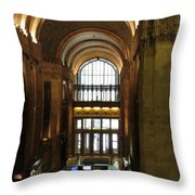 Lobby Of Woolworth Building Throw Pillow