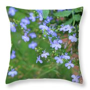 Lobelia Flowers Throw Pillow