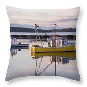 Lobster Boat Jonesport, Maine  Throw Pillow