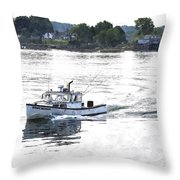 Lobster Boat Lbwc Throw Pillow