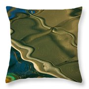 Lobster Boat Reflection Abstract #2 Throw Pillow