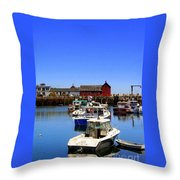 Lobster Boats Throw Pillow