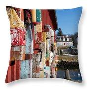 Lobster Buoy On Motif 1, Rockport, Ma Throw Pillow