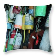 Lobster Buoys Hanging Throw Pillow