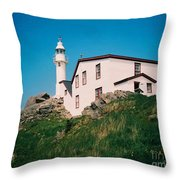 Lobster Cove Lighthouse Throw Pillow