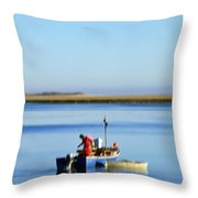 Lobster Fisherman. Throw Pillow