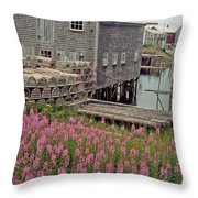 Lobster House Grand Manan Throw Pillow