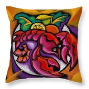 Lobster Throw Pillow by Leon Zernitsky