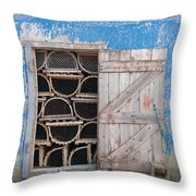 Lobster Trap Storage-3 Throw Pillow