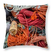Lobstering Lines Throw Pillow