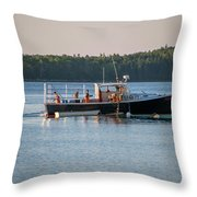 Lobstermen At Work  Throw Pillow