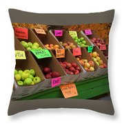 Local Apples For Sale Throw Pillow