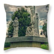 Local Cemetery Statue Throw Pillow