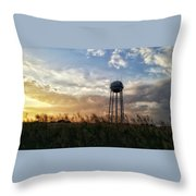 Local Water Tower  Throw Pillow