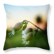 Local Wildflower Throw Pillow