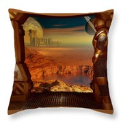 Location Location Throw Pillow
